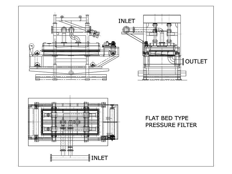 Flat Bed Pressure Filtration System